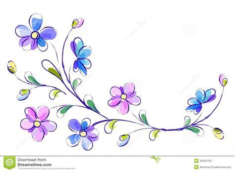 4 flores azules para jard fondo blanco horizontal con las flores azules ilustraci 243 n