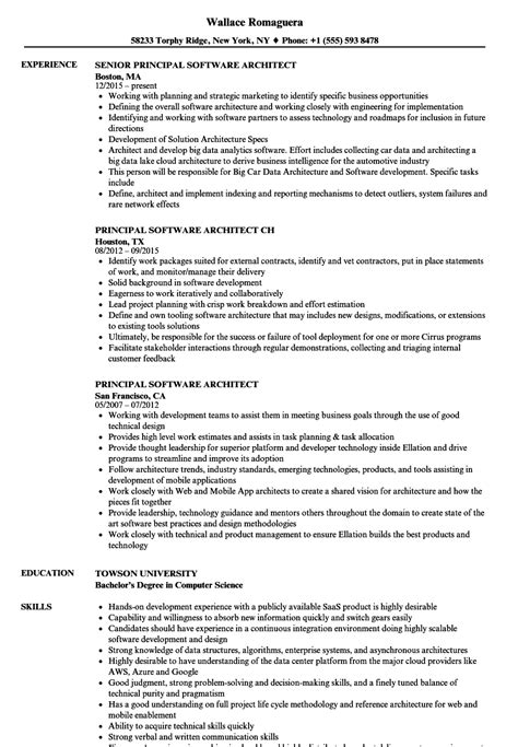 Software Architect Resume by Principal Software Architect Resume Sles Velvet