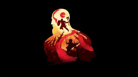 kratos  god  war  minimalism hd games