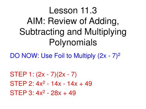polynomial addition  subtraction worksheet