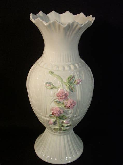 belleek diane flowered vase 11 quot h blue