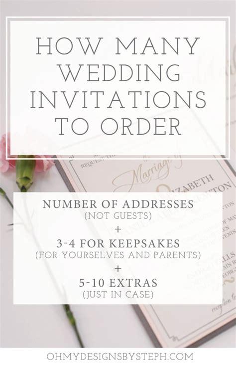 when should you order your wedding invitations how many wedding invitations should i order oh my