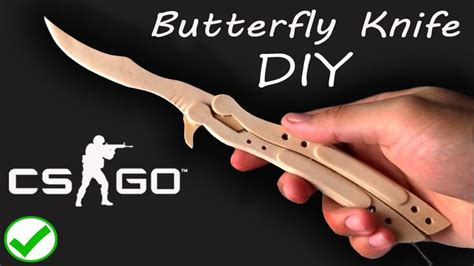 I Made A Csgo Butterfly Knife From Large Popsicle Sticks Visit My Youtube Channel And Check My Popsicle Stick Butterfly Knife Template
