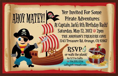 pirate birthday invitations di 325 custom invitations and announcements for all