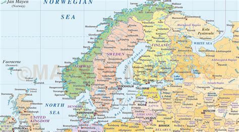 northern europe map map of northern europe images frompo