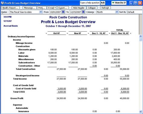 loss run report sle qodbc desktop how to run a profit and loss budget