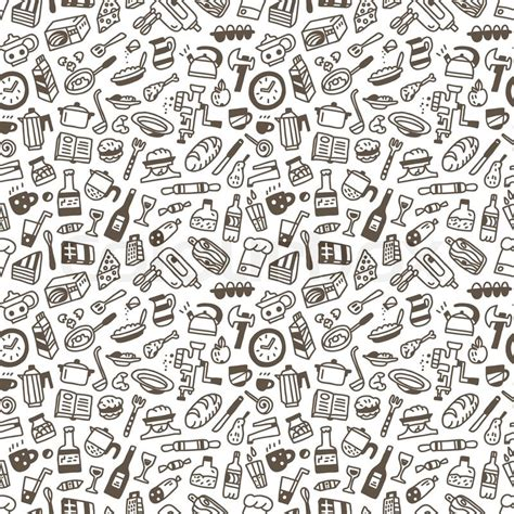 icon pattern background free food seamless background with icons in sketch style