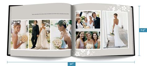 my publisher templates custom photo album design and pricing wedding photo book