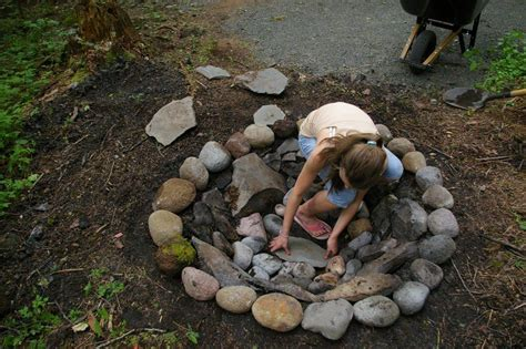 rocks for pit pit design ideas