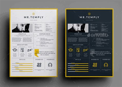 free visual resume templates 89 best yet free resume templates for word