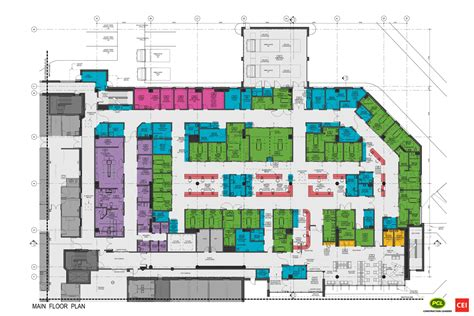 Emergency Department Floor Plan | the design yukon hospital corporation