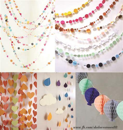 Make Your Own Paper Garland - wedding ideas create your own paper garlands shelovesroses