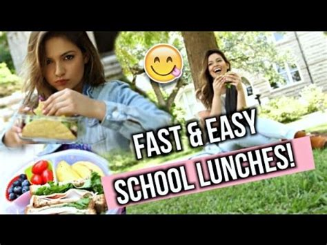 Bethany Mota Back To School Giveaway - healthy back to school lunches after school snack ideas funnydog tv