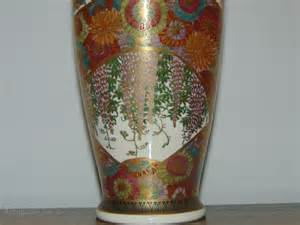 Painted Satsuma Vase by Antiques Atlas Painted Japanese Satsuma Vase