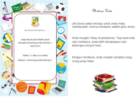 layout buku program buku program nilam