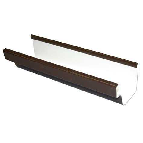 euramax canada vinyl gutter brown the home depot canada