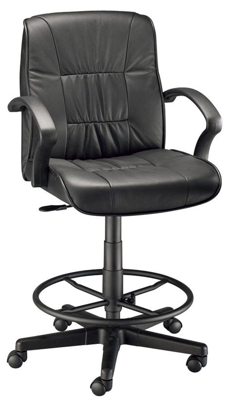 Leather Drafting Chair by Director Executive Leather Chair Drafting Height