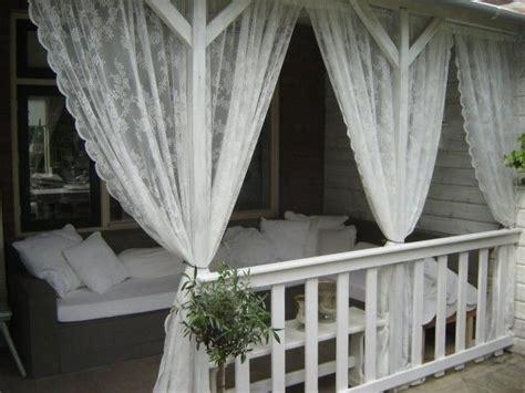 vitrage tegen muggen 25 beste idee 235 n over veranda gordijnen op pinterest