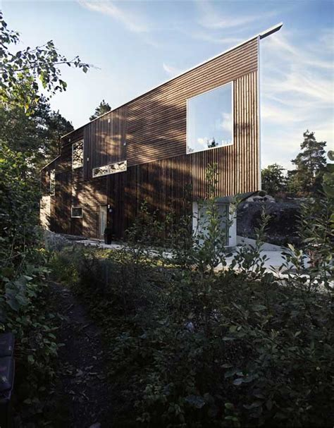Wooden House Plans triangle house contemporary norwegian home e architect