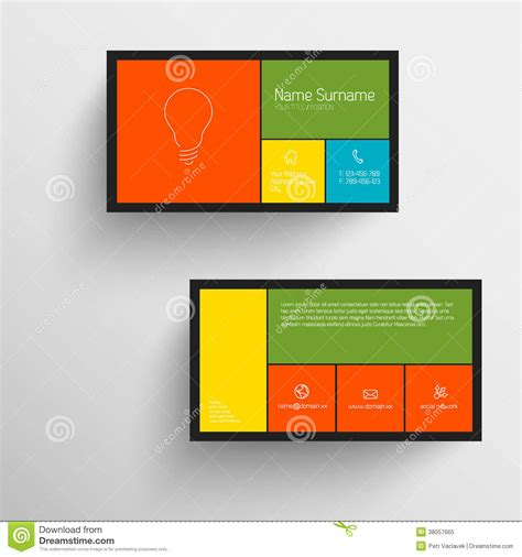 mobile phone business card template modern business card template with flat mobile user