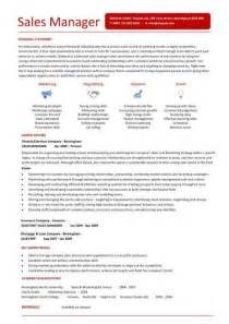 Resume Format For Sales Manager by Free Cv Templates Resume Exles Free Downloadable Curriculum Vitae Key Skills