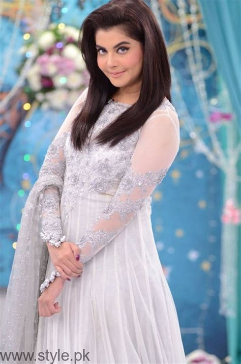 Nida Dress trendy bridal formal dresses at nida yasir s morning show