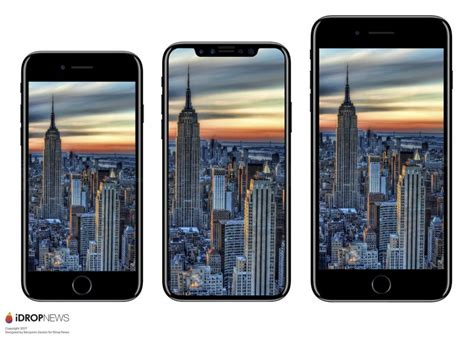iphone 8 renders offer direct size comparisons with iphone 7 and galaxy s8 macrumors