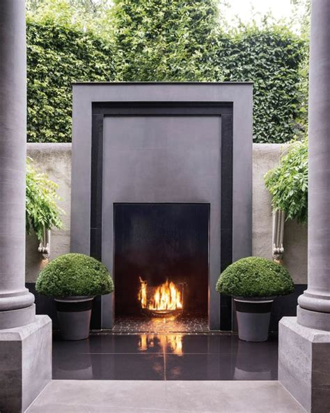 outdoor modern fireplace on trend outdoor fireplaces akin design studio