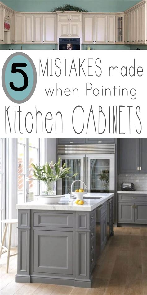how to prepare kitchen cabinets for painting mistakes people make when painting kitchen cabinets