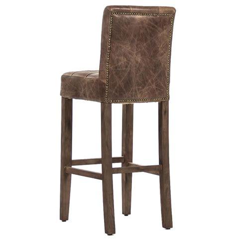 tufted leather bar stool sigmund rustic lodge tufted brown leather bar stool