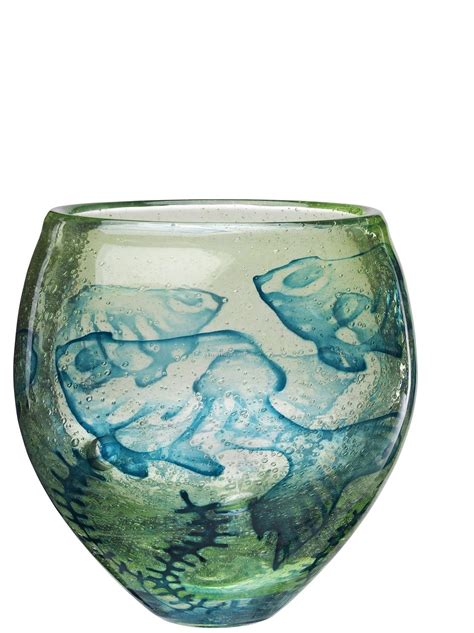 Green Glass Vases Bulk by Underworld Green Glass Vase W Fish Motif By Olle Brozen