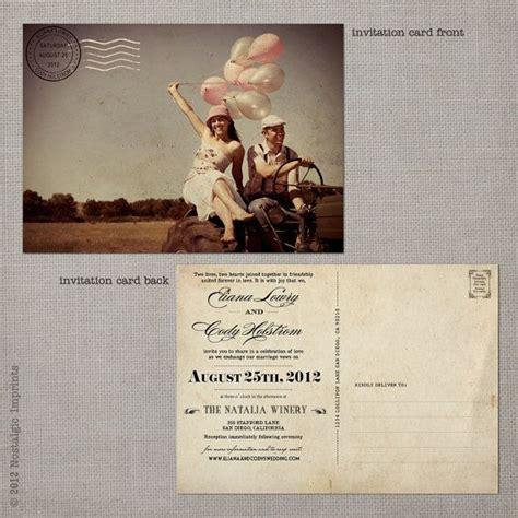 Einladung Postkarten Hochzeit by Wedding Invitation Post Card 5x7 Wedding Invitation The