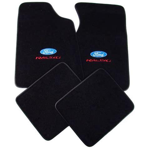 mustang floor mats w ford racing logo black 79 93