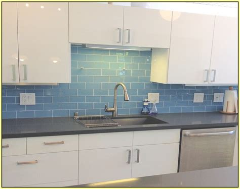 Blue Glass Tile Kitchen Backsplash Blue Glass Tiles For Backsplash Home Design Ideas Blue Backsplash Tile In Backsplash Style