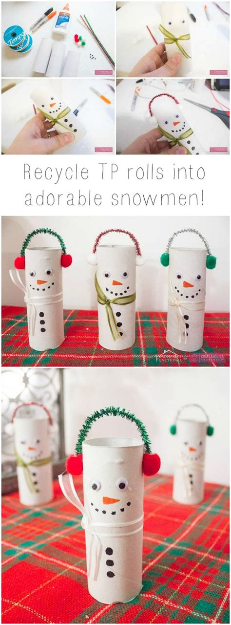 diy winter crafts diy toilet paper roll snowmen toilets winter craft and for