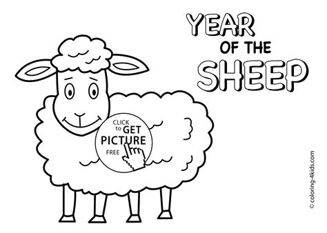 chinese new year goat coloring page year of sheep coloring pages for kids chinese new year