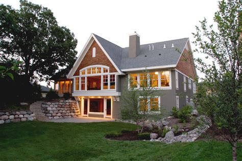 home designer pro walkout basement 19 golden valley lake home traditional exterior minneapolis by sharratt design company