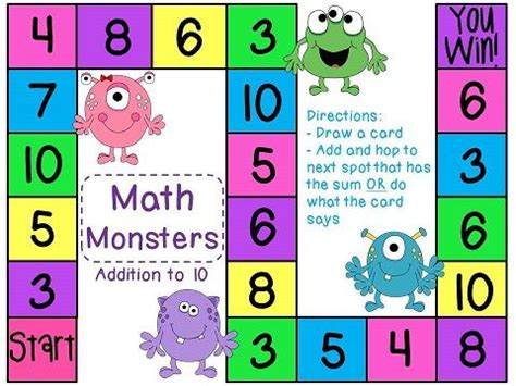 math pattern board games addition game game cards math and board games