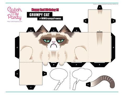 Free Papercraft Templates To - what to give the cat who hates everything catch my
