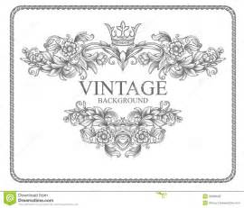 vintage border frame stock vector image of label