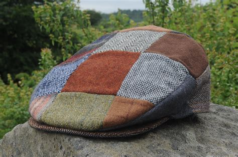 Patchwork Cap - patchwork tweed cap
