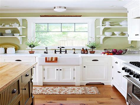 country kitchen with white cabinets white country kitchen designs