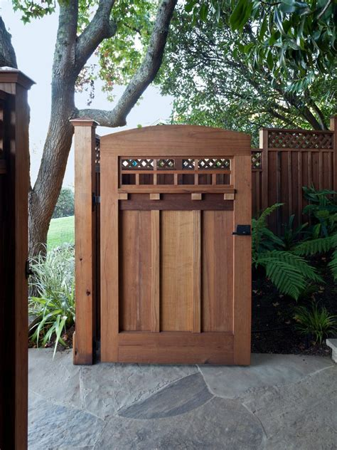 craftsman style fence landscape with front gate traditional doorbells and chimes