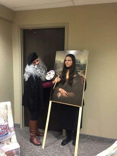 diy mona lisa  leonardo da vinci halloween costume
