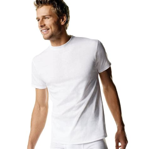 comfortable mens shirts hanes 2135 men s white crew neck t 3 pack