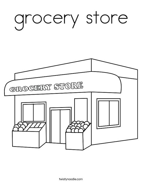 grocery store coloring page twisty noodle