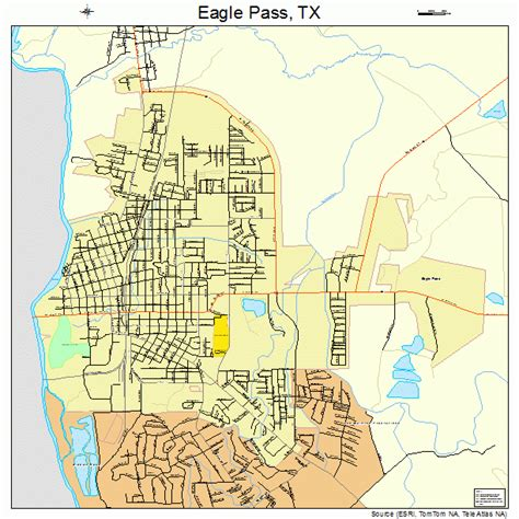 where is eagle pass texas on a map eagle pass texas map 4821892