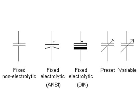 matrix electronic circuits and components capacitors capacitor symbols