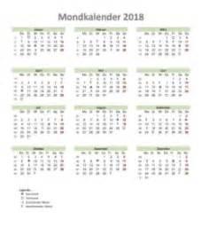 Vollmond Kalender 2018 Mondkalender 2018 Zum Ausdrucken Muster Und Vorlagen