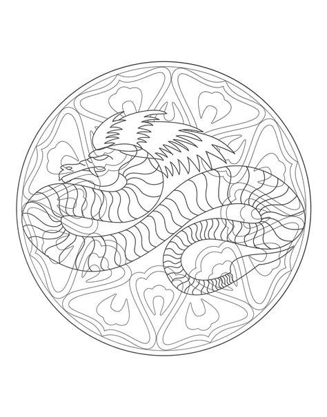 dragon mandala coloring pages free mandalas page 171 coloring to print mandala dragon 4